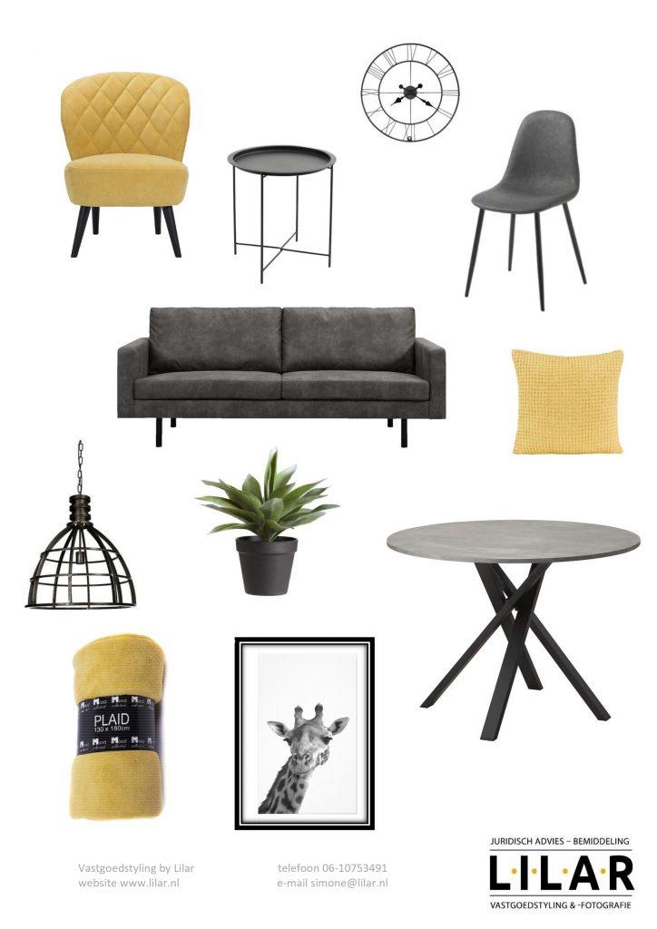 Industriële styling in geel